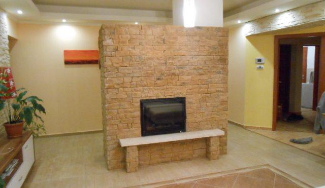 Balaton Külső levegős kandalló építése