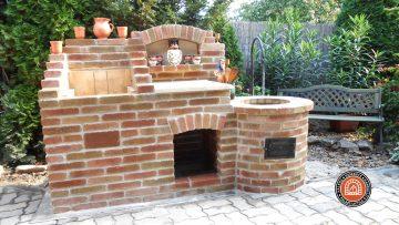 Kerti bográcsozó és grillező építése Dunaújvárosban