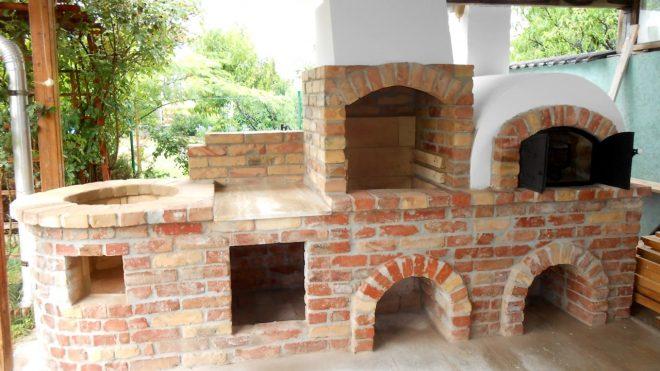 Donga kemence építése grillezővel és borgácsozóval Monori Erdőben