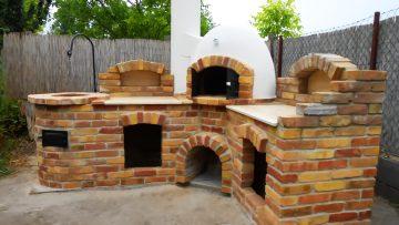 Kerti búbos kemence építése Dinnyés településen (Fejér megye)