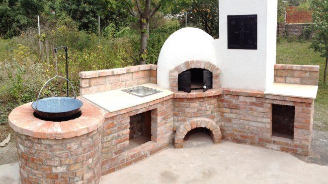 Búbos kemence és családi bográcsozó építése Veresegyháza településen
